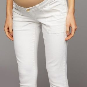 402f8b09f848e Luxe Essentials Apparel Pants - Luxe Side Panel Skinny Maternity Jeans  White 25